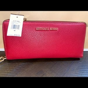 Micheal Kors red large wallet